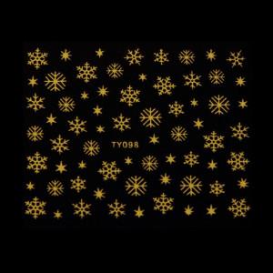 Abtibild 3D Fulg De Nea - TY098 Auriu