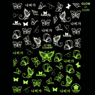 Abtibilde Unghii Glow in Dark Florescente in Intuneric Butterfly CY-005