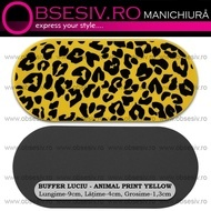 Buffer Unghii Luciu - YELLOW Animal Print