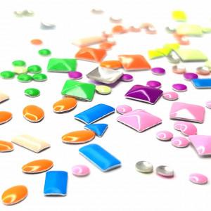 Decoratiuni Unghii Tip Tinte Multicolore Forme si Marimi Diferite, Accesorii Nail Art