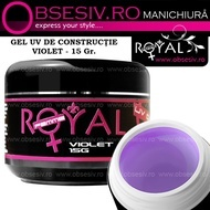 Gel UV  3in1 Baza, Constructie si Finish (Violet) 15ml - Royal Femme