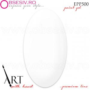 Geluri Paint Premium Line, Exclusive Nails, Cod EPP500, Gramaj 5ml, Culoare Angel White