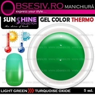 Geluri Thermo Colorate - LIGHT GREEN > TURQUOISE OXIDE (Geluri Colorate Thermocrome)