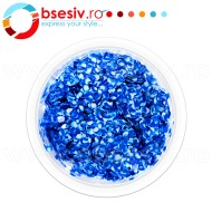 Glitter Leopard Unghii, Culoare Blue/White, Cod GLU-312242, Accesorii Nail Art Paiete Glitter Leopard