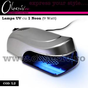 Lampa UV unghii gel cu 1 neon 9 Watt Gri - L2