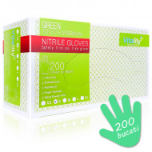 Manusi Nitril Nepudrate Verzi Vitality Green Touch Premium 200 Buc