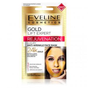 Masca de Fata cu Efect de Intinerire 24K Gold Lift Expert Anti-Wrinkle Eveline Cosmetics