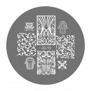 Matrite Stampile Unghii, Cod JQ-15, Accesorii Profesionale Manichiura