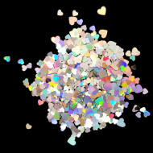 Paiete Unghii cu Efect Oglinda si Reflexii Multicolore Model Inimi, Accesorii Nail Art