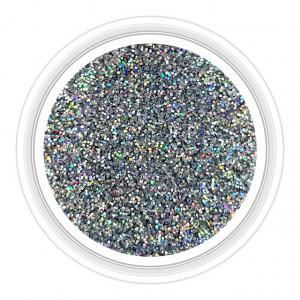 Sclipici Unghii Culoare Argintiu cu Reflexii Multicolore Cod 06