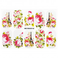 Stickere Unghii cu Modele Decorative 5D 'Paris Eternal Love', MG190460-02