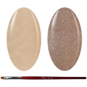 Kit Geluri Color + Pensula Gel Unghii, Cod K2GP-63S/42S