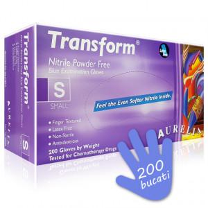 Manusi Examinare din Nitril Aurelia® Transform® Ice Blue 200 Buc