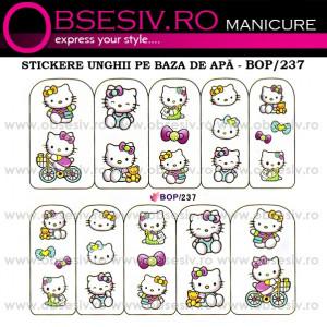 Abţibilde pe Bază de Apă (4 seturi) BOP/236 - BOP/239 (Abtibilduri Unghii - Tatuaje Unghii - Nail Stickere - Water Nail Art)