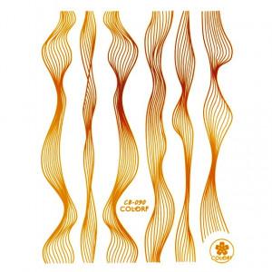 Abtibilde si Stickere Unghii, Auriu, CB-090 Gold