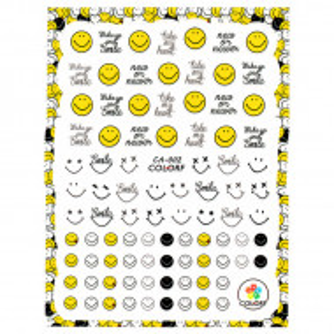 Abtibilde Unghii cu Motive Decorative 'Emoticon Smile :)' CA-002, Stickere Unghii