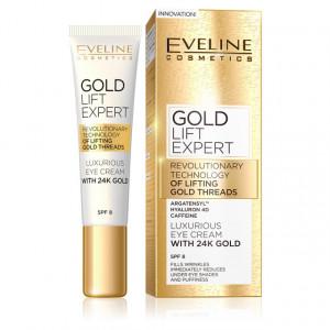 Crema de Lux pentru Ochi cu Aur de 24K Gold Lift Expert Eveline Cosmetics