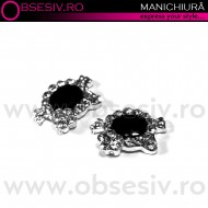 Decor Ornamental Unghii, BLACK HELLO KITTY (Ornamente Nail Art Unghii)
