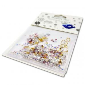 Decor Unghii, Ornamente Metalice si Pietricele, 82218