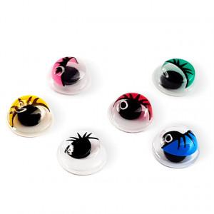 Decoruri Unghii Forma de Ochi cu Pupile Mobile Culori Diferite