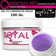 Gel UV 3 in 1 Bază, Construcție și Finish (Violet) 100ml - Royal Femme