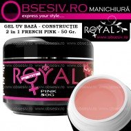 Gel UV  3in1 Baza, Constructie si Finish (Pink) 50ml - Royal Femme