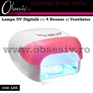 Lampa UV Digitala cu 4 neoane, ventilator si senzor 36 Watt - L05