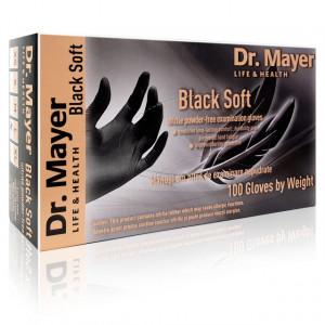 Manusi Examinare din Nitril Nepudrate 'Black Soft' Dr. Mayer 100 Bucati