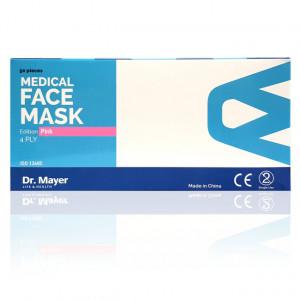 Masti Medicale Protectie cu 4 Straturi Dr. Mayer Pink Edition, Cutie 50 Bucati