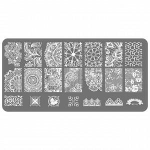 Matrita Metalica Gravata in Profunzime, Cod BC-10, Placa Stampila Unghii