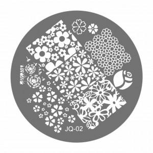 Matrite Stampile Unghii, JQ-02, Accesorii Profesionale Manichiura