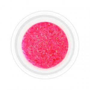 Paiete Unghii cu Holograme Neon Cod NH-03 Culoare Roz Intens
