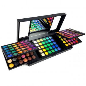 Paleta Machiaj Pleoape 150 Culori cu Oglinda Aplicata