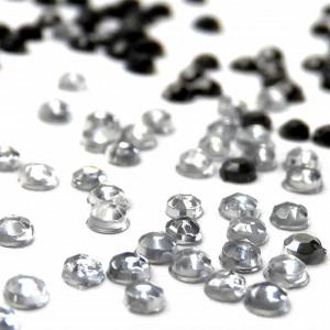 Pietricele Unghii Argintiu si Negru, Decoruri Unghii de Tip Nail Art