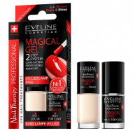 Set Lac Unghii cu Tratament si Top Coat Magical Gel Eveline Cosmetics No 08