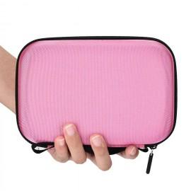 Borseta roz pentru 12 sticlute de 5/10/15 ml - model MH04