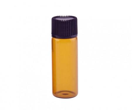 Recipient aromaterapie cu picurator din sticla bruna slim 5 ml - set 5 bucati
