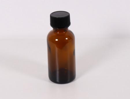 Recipient aromaterapie sticla bruna 30 ml cu capac
