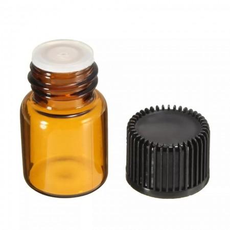 Recipient cu picurator din sticla bruna 2 ml - set 10 bucati