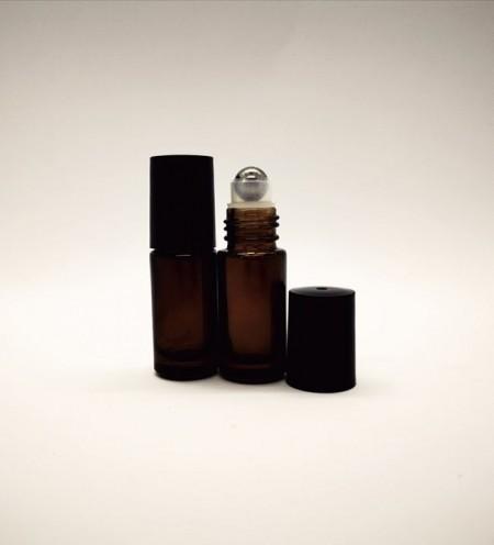 Recipiente roll-on din sticla bruna de 5ml - SET 10 bucati