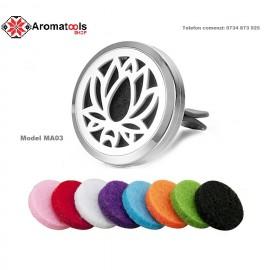 Aromadifuzor auto pentru uleiuri esentiale Floare de Lotus MA03