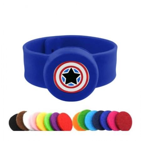 Brățară BAIETI Captain America albastru
