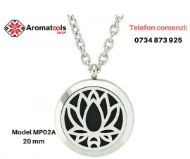 Pandantiv cu aromadifuzor lotus MP02A - 20 mm