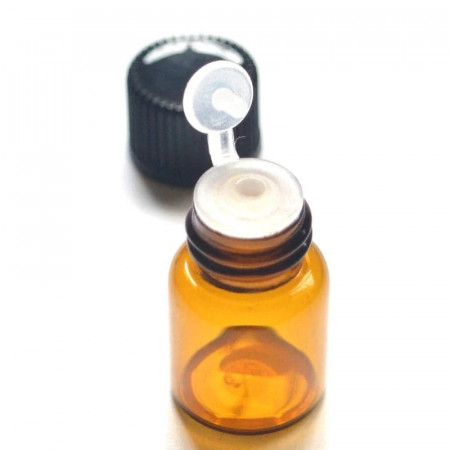 Recipient cu picurator-dop din sticla bruna 2 ml - set 10 bucati