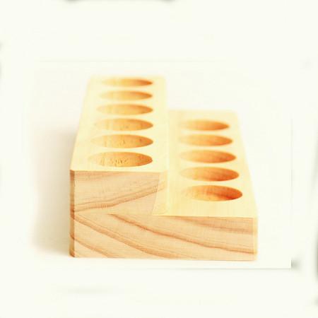 Suport doTERRA din lemn de pin 2 etaje / 11 sticlute de 15 ml