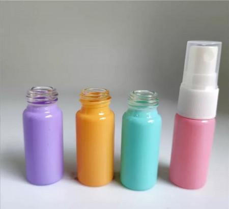 Recipient spray sticla color pastel 10 ml - set 4 bucati