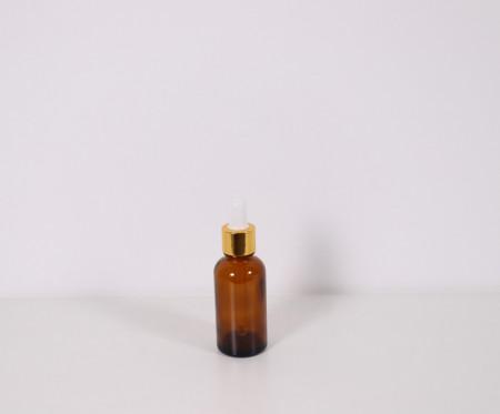 Recipient aromaterapie din sticla bruna cu pipeta 30ml