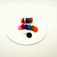 Dischete colorate pentru bratarile aromaterapeutice - set rezerva