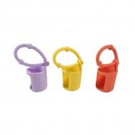 Protectii colorate din silicon pentru sticlute 5 ml - GALBEN/LILA/ORANGE
