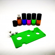 Recipient roll-on 2 ml din sticla COLOR cu bila metalica - SET 5 bucati
